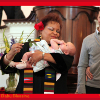 Reverend Susan Newman Performs Baby Blessing